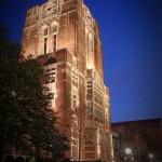 Ayers Hall Lighting the Tower